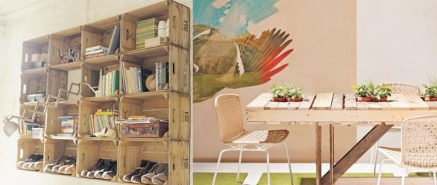 Una casa con jard n a house with a garden palets en la - Decoracion con pallets ...