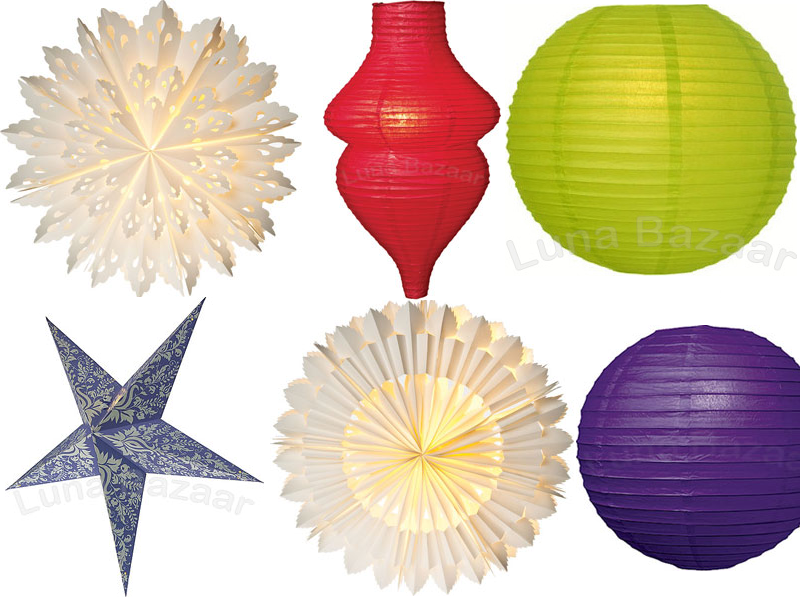 Indoor Decorating With Paper Lanterns
