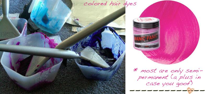 Tie Dye Hair Tips by NC blogger Glitter, Inc.