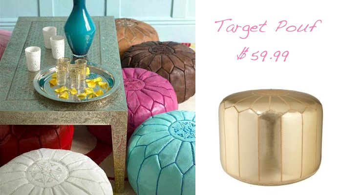 Friday Link Love Glitter Inc Mesmerizing Gold Pouf Target